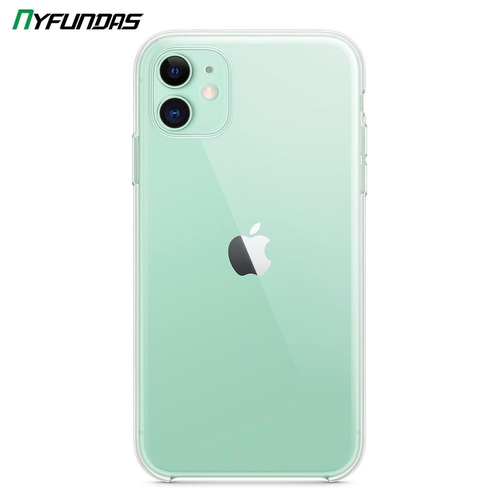 Funda transparente Original para Apple iPhone 11 Pro Max X XR XS 8 Plus 7 6 6S iPhone11 a prueba de golpes de silicona parachoques accesorios de cubierta dura