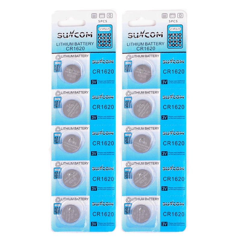 10 Pcs/lot CR1620 Batteries 3 V Lithium Button Coin Cell Watch Change Battery For Toy Calculator Remote Control Battery Parts