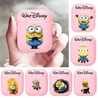 disneys cute little yellow man silicone bluetooth wireless earphone case for airpods protective cover skin accessories pods cha