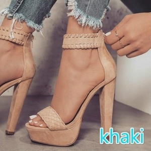 Women Platform Sandals 2021 Summer High Heel Ankle-warp Zipper Shoes Female Fashion Casual Open Toe Daily Shoes New Arrivals