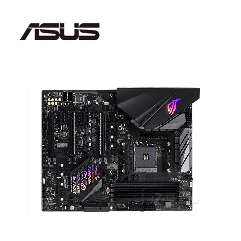 تستخدم ، آسوس ROG STRIX B450-F الألعاب اللوحة المقبس AM4 DDR4 ل AMD B450M B450 الأصلي سطح المكتب اللوحة الرئيسية