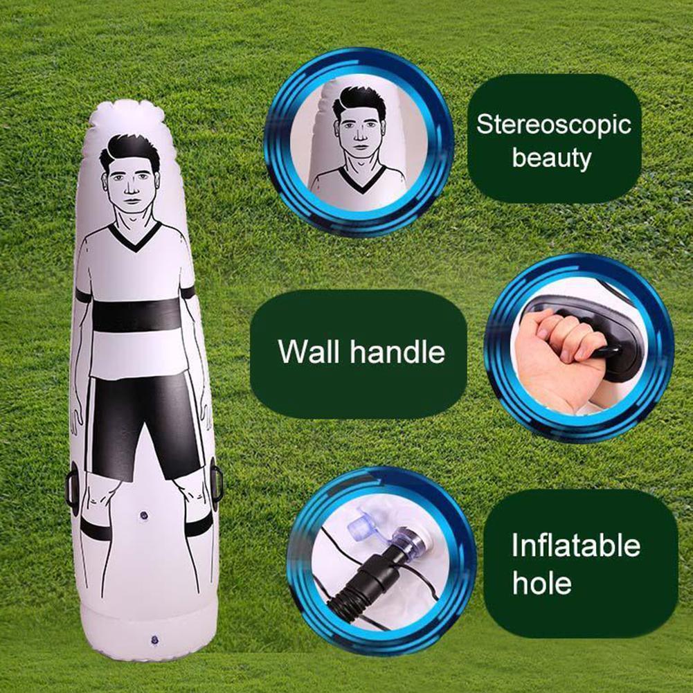 175 см надувной манекен для футбола, манекен для футбола с бесплатным ударом, уличная стена, Детские принадлежности для футбола, стакан, трени...