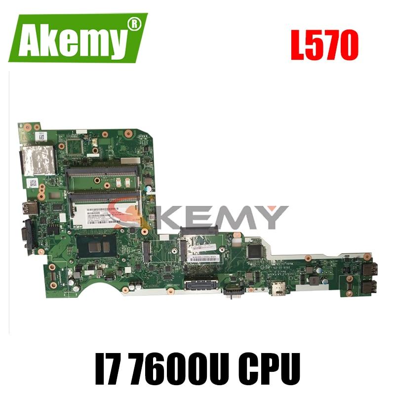 Akemy لينوفو ثينك باد L570 دفتر اللوحة LA-C422P I7 7600U وحدة المعالجة المركزية DDR4 100% اختبار العمل FRU 01ER225 01ER227 01ER229