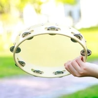6 8 10 inch musical tambourine drum round percussion cowhide drums for children