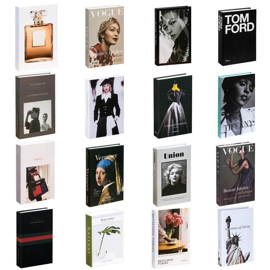 Falso livro decoração de moda criativa marca decorativa livro café ins decoração do hotel simulação livro modelo clube casa decoração livro