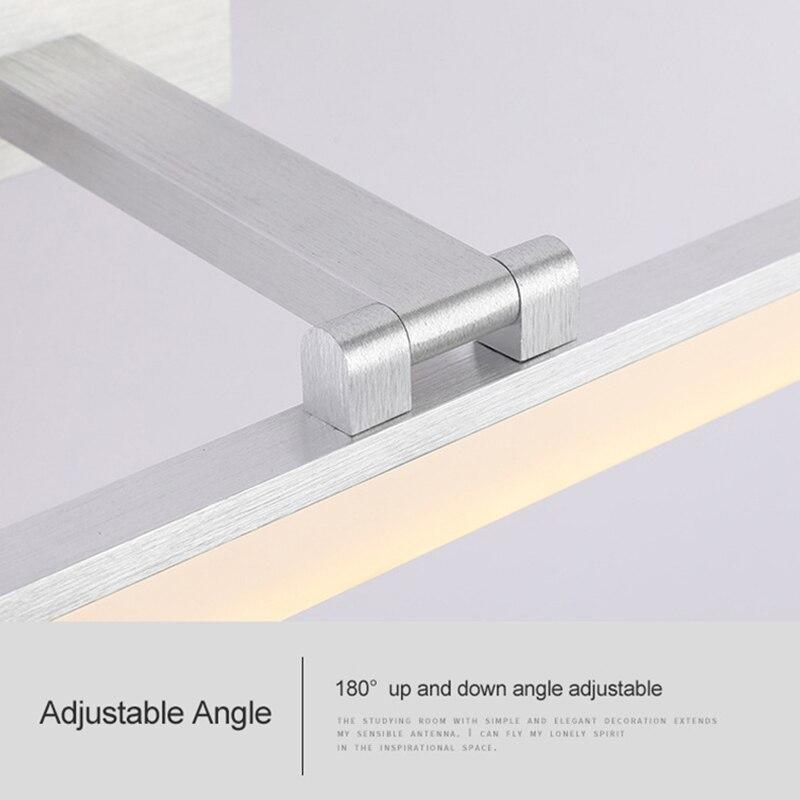 vanity light bathroom waterproof led wall lighting aluminum base acrylic lampshade angle adjustable mounted wall lamps enlarge