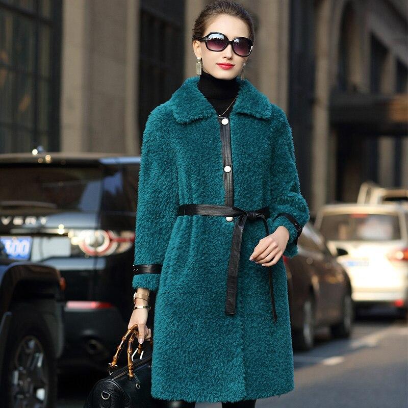 2020 ropa de otoño invierno mujeres coreanas Vintage Real Fur Coat Mujer...