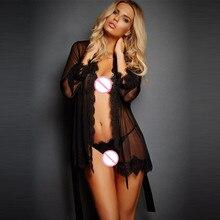 Lingerie Sexy pour peignoirs maille cils dentelle chemise de nuit sexy pyjamas produits intimes pornographie pour le sexe costumes érotiques