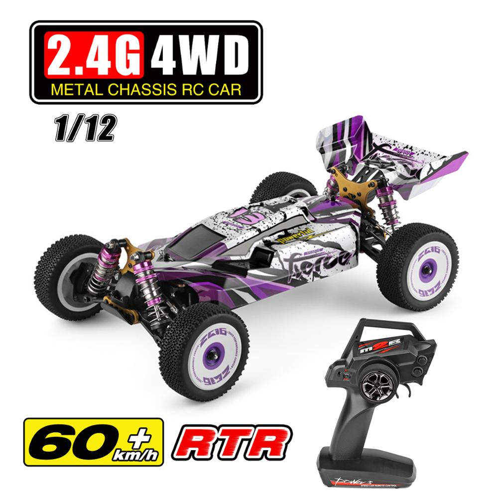 WLtoys New 2.4G Racing RC Car 60 Km/h Metal Chassis 4wd Road Drift Electric RC Cars Remote Control Toys For Adults Kids 124019