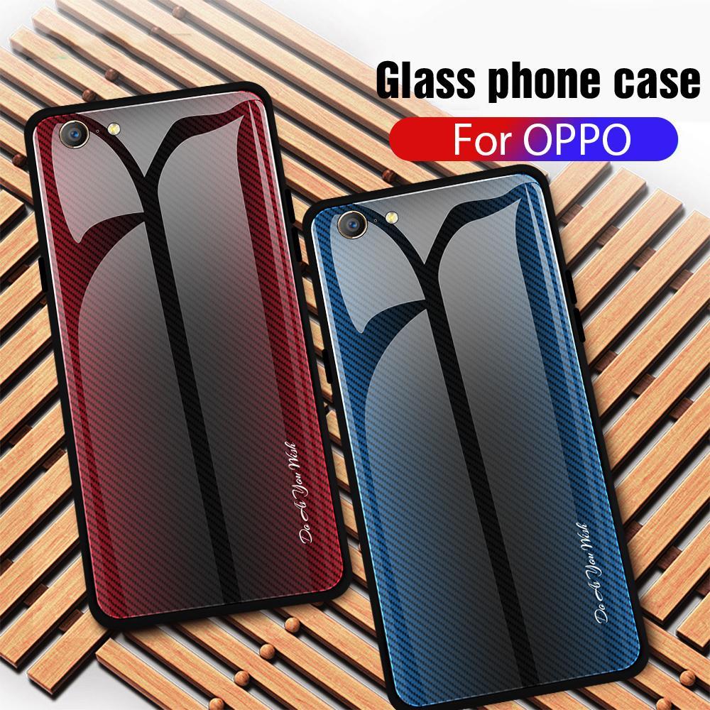 Чехол из закаленного стекла для телефона для OPPO Realme X 1 R15X K1 F5 F3 F1 A73 A79 градиент полоса задняя крышка чехол для OPPO A35 A39 A57 A33 NEO 7