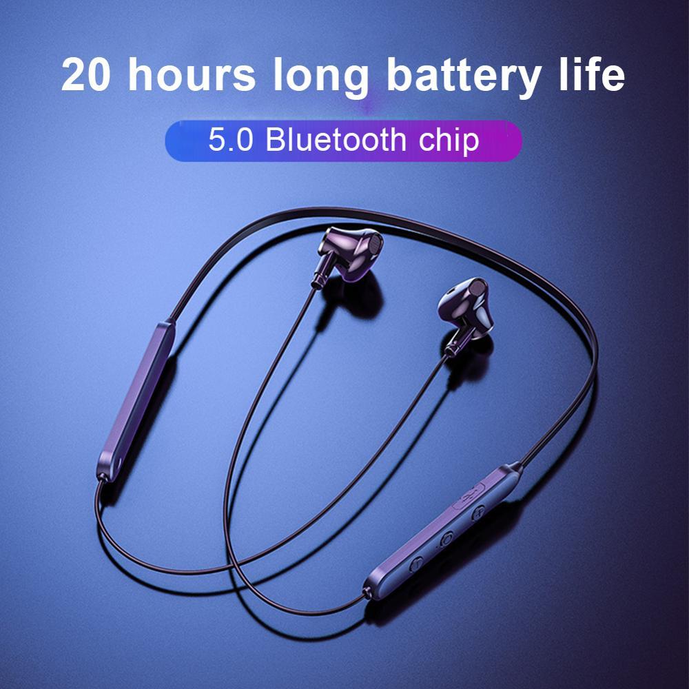 TWS Stereo 5,0 Drahtlose Ohrhörer Bluetooth Kopfhörer Bass Magnetic Sports Headset Wasserdichte Noise Reduction Kopfhörer Mit Mic