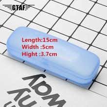 Semplice E Alla Moda Portatile Trasparente Borsette Caso Della Protezione Box Per Clip-on Flip-up Lens Occhiali di Vendita