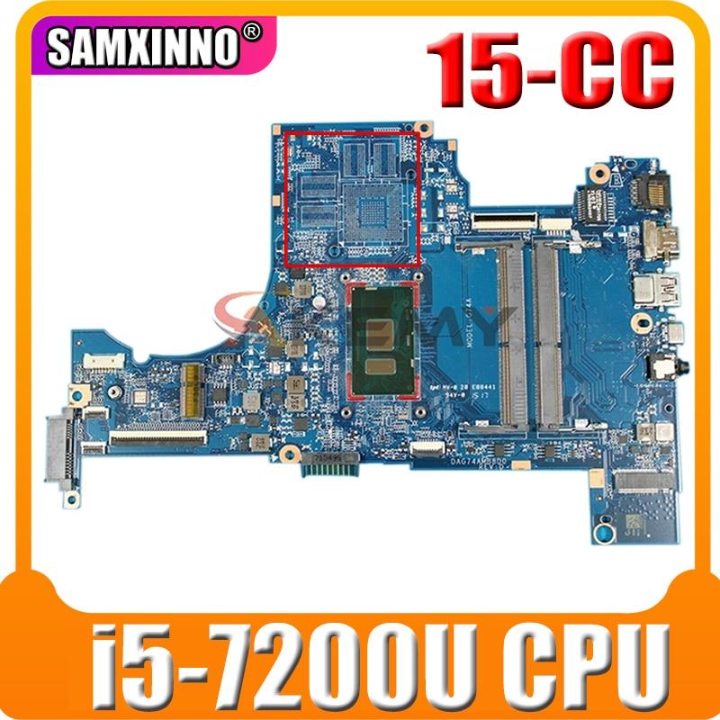 ل HP بافيليون 15-CC اللوحة الأم للكمبيوتر المحمول مع i5-7200u وحدة المعالجة المركزية 926275-601 926275-001 DAG74AMB8D0 DDR4 MB 100% اختبار سريع السفينة