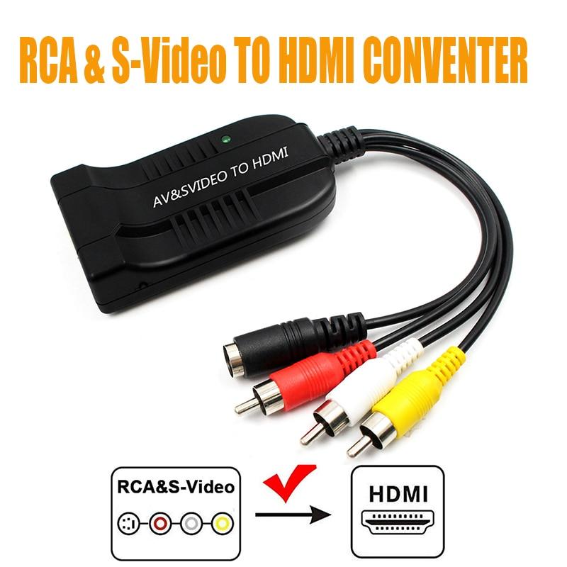AV-SVideo к HDMI адаптеру, s video in ,av(cvbs) in. Видео конвертер HDMI выход
