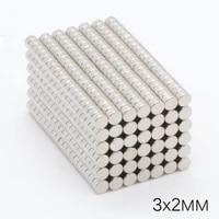 1000pcs 3x2mm neodymium magnet rare earth permanent ndfeb iron boron super strong n35 small round magnet disk iron 3 x 2mm