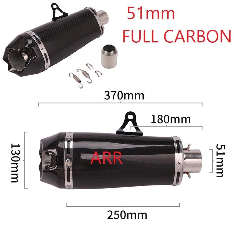 Tubo de Escape modificado para motocicleta de 51mm, tubo de Escape para Moto DB, silenciador para Motocross ARROW