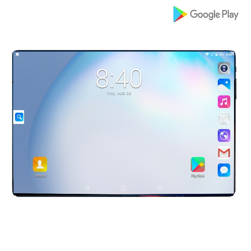 2021 New 4G LTE 10 Inch Tablet Screen Mutlti Touch Android 9.0 Octa Core Ram 6GB ROM 128GB Camera 8M