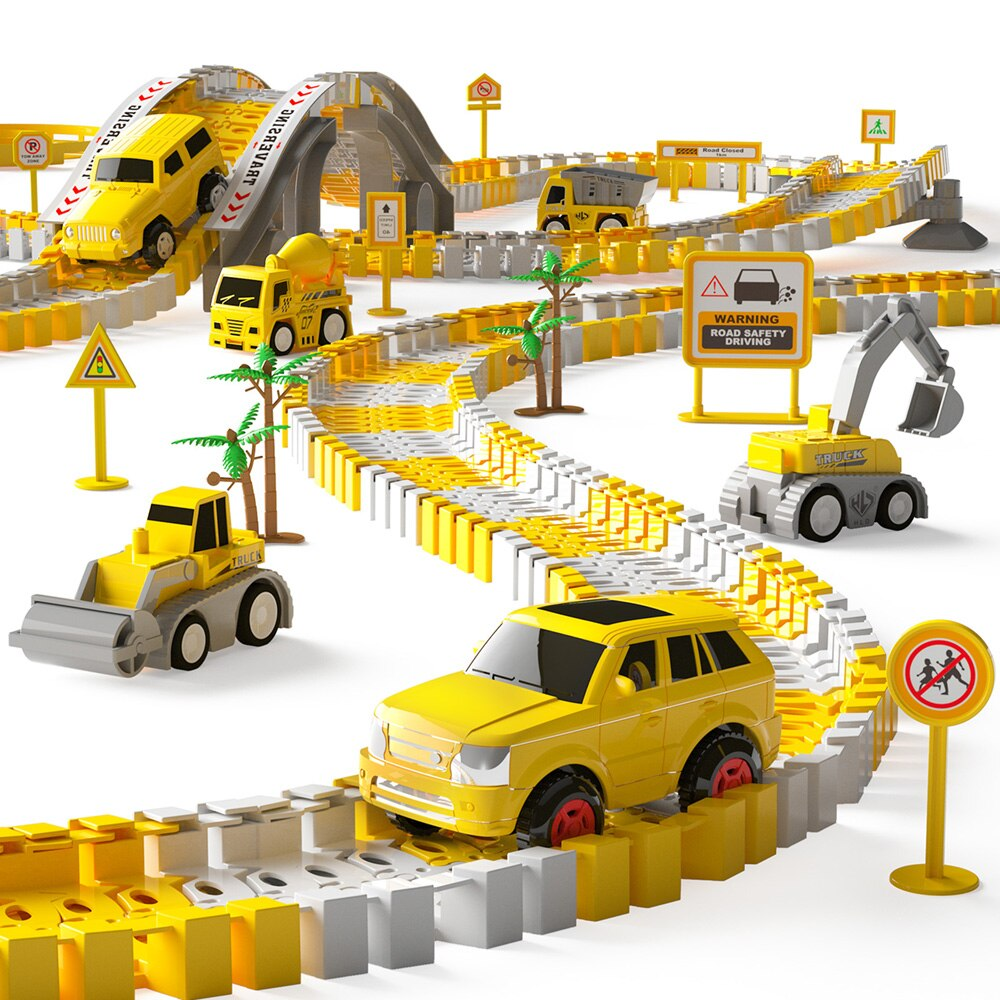New Truck Model Of Rail Car City Polymorphous Excavator Bulldozer Viaduct Boy Gift Combined Toys For Children