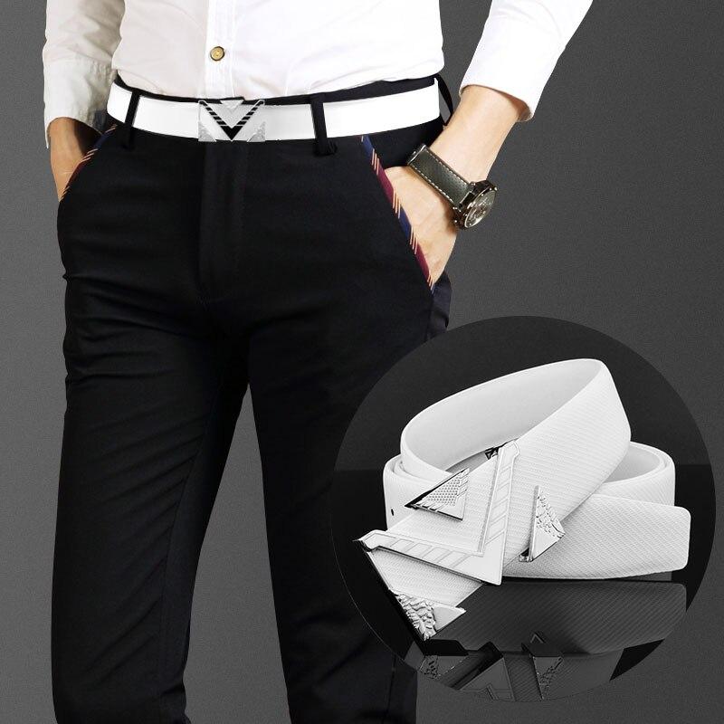Cinturones de diseñador M de alta calidad, cinturones de moda genuina informales para hombre con correa en la cintura, cinturones blancos para hombre