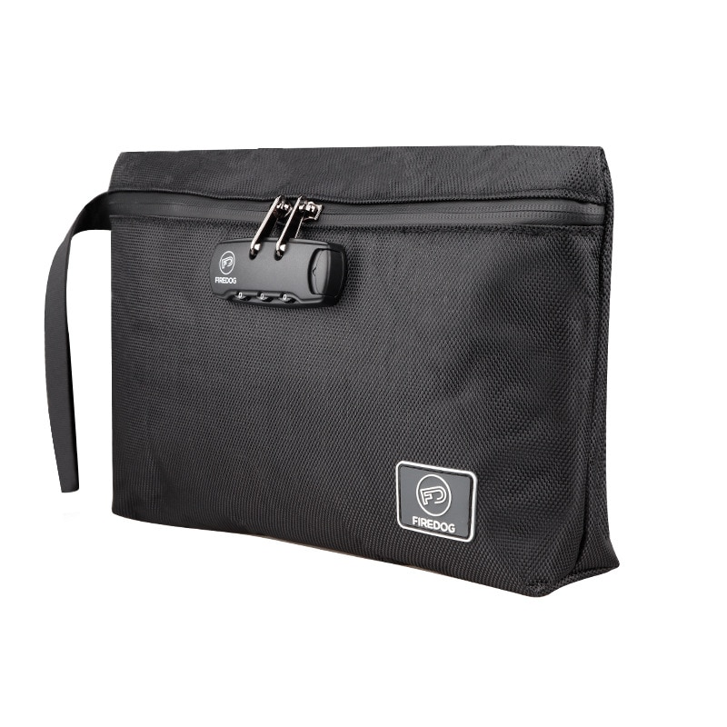 Small Safes Bag Smell Isolated Waterproof Password Lock Storage Bag Zipper Multifunction Travel Office Files Safety Bag