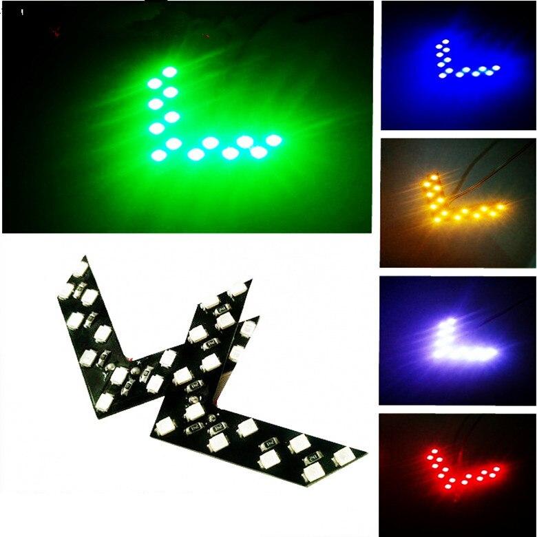 2 pçs x carro escondido luzes de seta led 14smd 1210 espelho lateral do carro indicadores sinal volta luzes decorativas sentido reverso