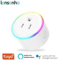 Lonsonho     veilleuse intelligente avec prise WiFi Type B  Compatible avec Tuya  Alexa et Google Home Assistant