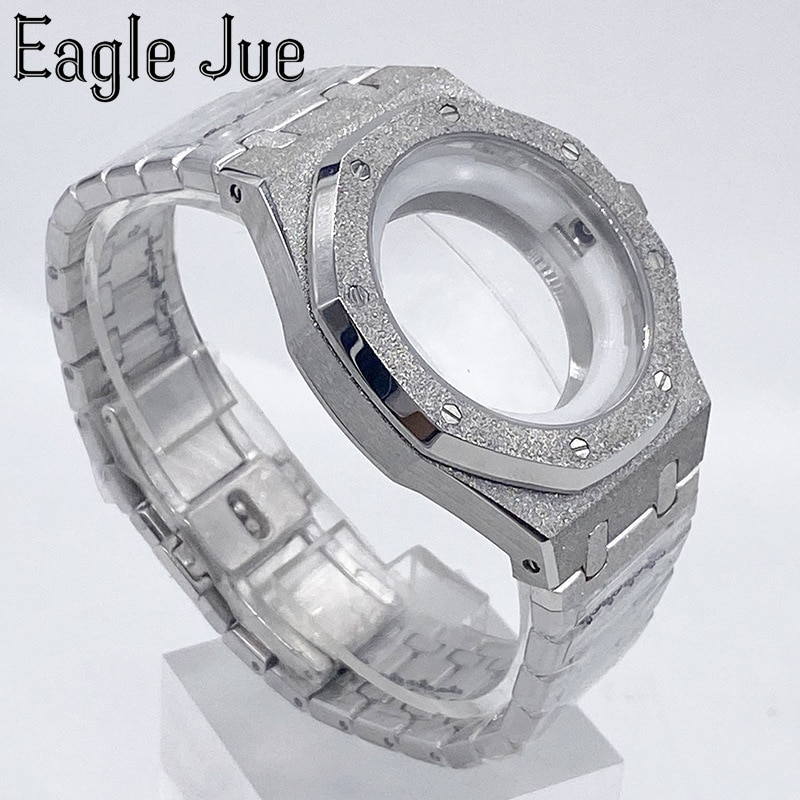 Eagle Jue substitute AP strap 316 stainless steel mechanical watch gem glass sports men's watch suitable for 2836.2813.2824