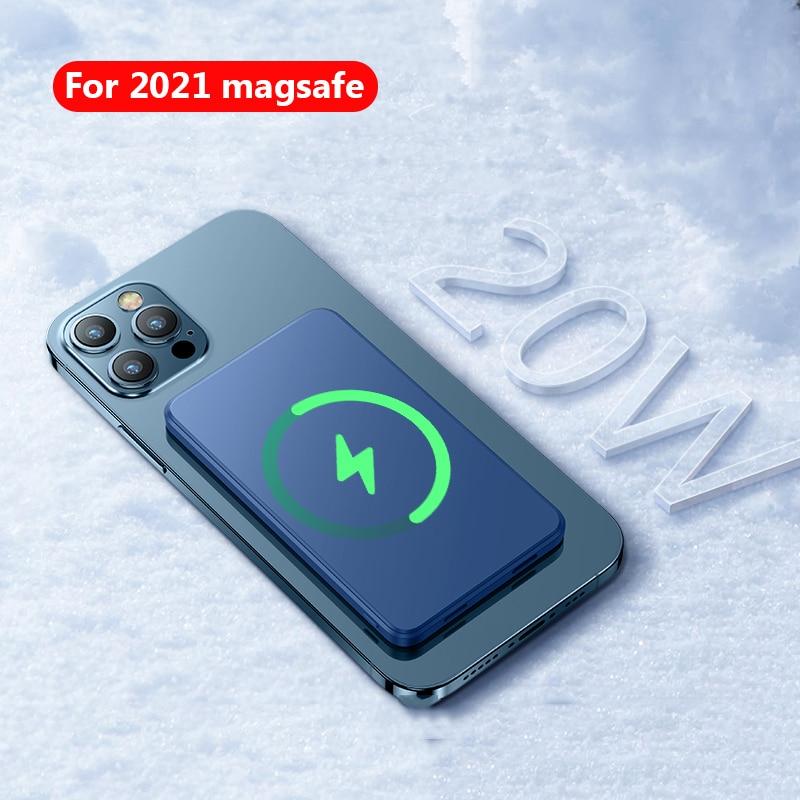 15w magnetico sem fio power bank para magsafe iphone 12 12pro 12promax mini carregador