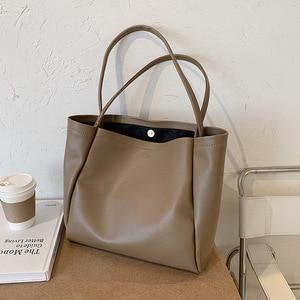 2021 Winter Large Capacity Big Bag Handbag Basket Bolsa Feminina Top-handle Shoulder Carpisa Bags Female Ladies Handbags Women