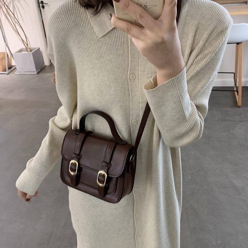 PU Leather Crossbody Bags For Women 2021 Fashion Small Cross Body Brand Designer Lady Shoulder Bag Luxury Handbags