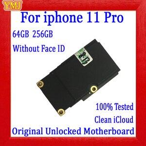 Материнская плата для iPhone 11 Pro, 64 ГБ, 256 ГБ, без распознавания лица, полностью разблокированная, бесплатный iCloud, 100% оригинал для iPhone 11PRO, логиче...