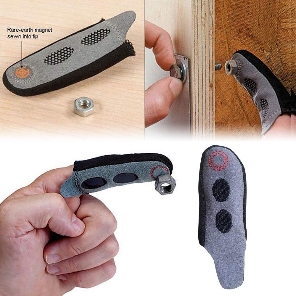 Guante de dedo magnético fuerte, dedo artesanal, manga magnética, Pickup Metal