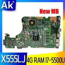 X555LJ LVDS MAIN_BD_4G/i7-5500CPU/como GT920M/2G placa base REV3.6 para Asus X555LJ LB X555LF X555LD X555L VM590L placa base de computadora portátil