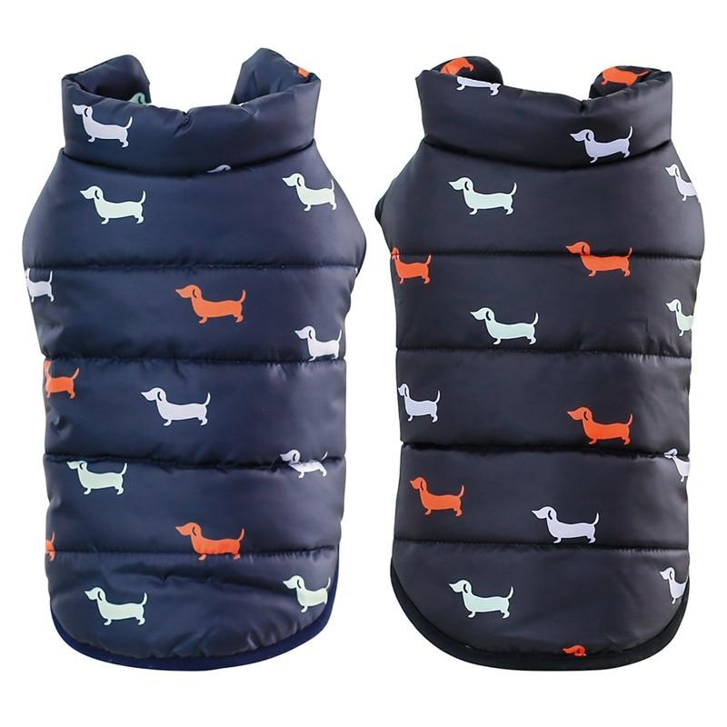 Autumn Winter Cloth Dog Clothes Cool Pet Dog Warm Cloth  Dog Jacket Coats with Fur Collar Small Medium Dogs Puppy Jacket.