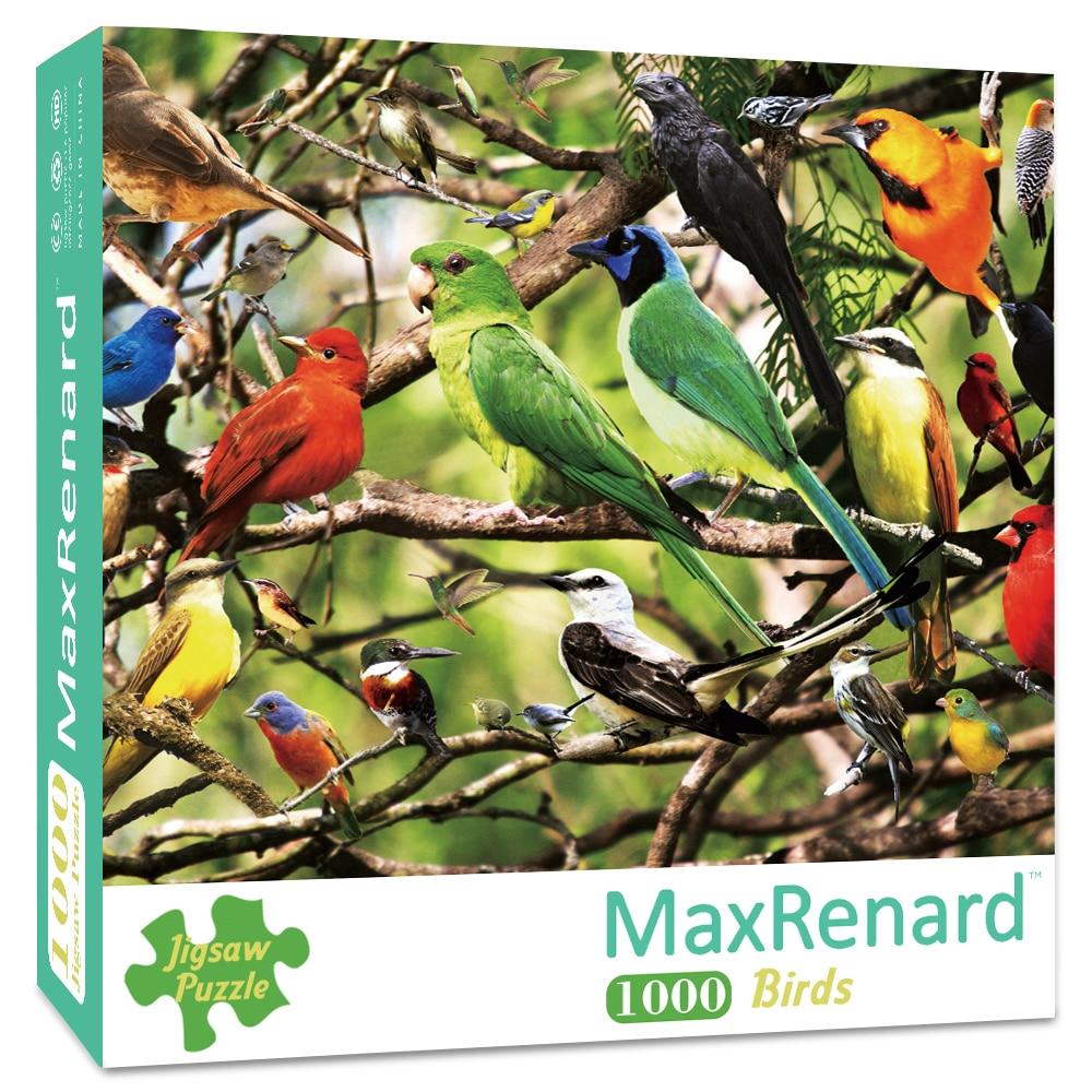 Пазл MaxRenard 50*70 см, 1000 деталей, пазлы для взрослых, бумажные Пазлы для сборки животных, картины, птицы, игрушки для взрослых