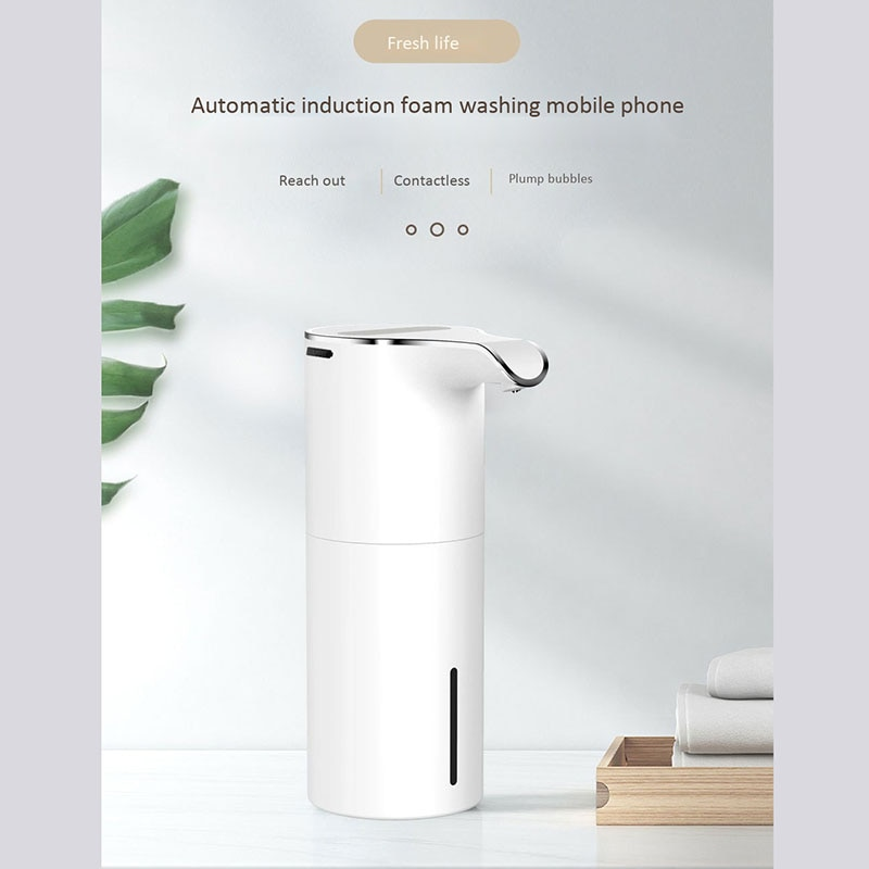 450Ml Soap Dispenser Automatic Touchless Hand Soap USB Rechargeable Foam Soap Dispenser for Bathroom Hotel Washroom enlarge