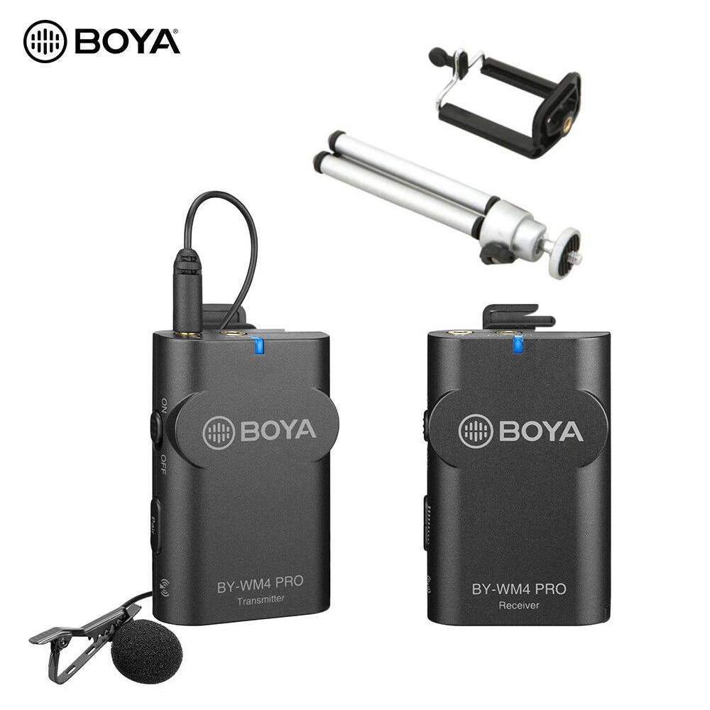 Boya BY-WM4 Pro K1 K2 2.4G sans fil Lavalier Microphone système portable 2.4G pour Canon nikon DSLR appareil photo iPhone téléphone portable