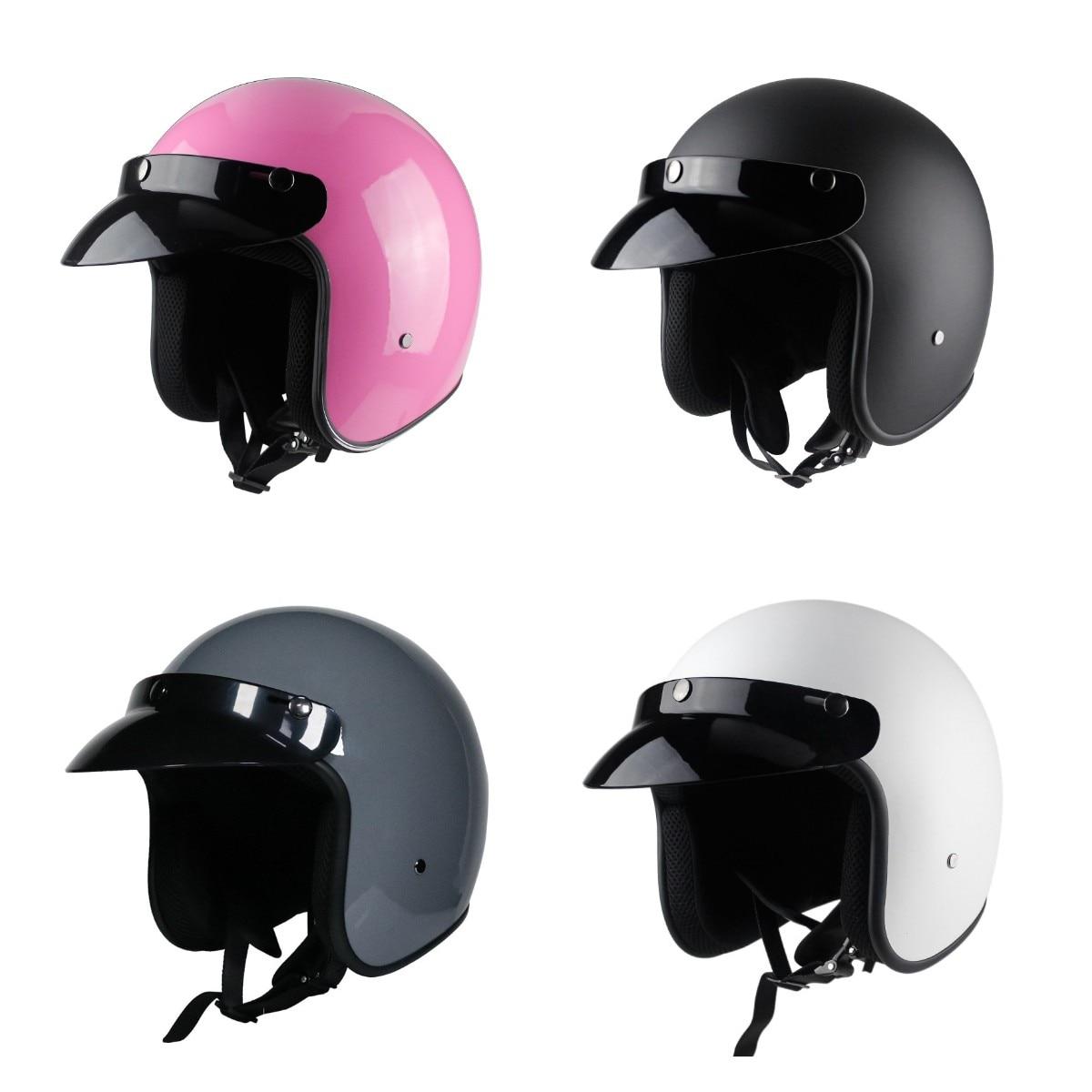 Capacete دي Moto خوذة 3/4 الوجه الرجعية خوذة Moto rcycle نتوء (غطاء) كاسكو Moto cicleta Capacete خوذة moto عبر