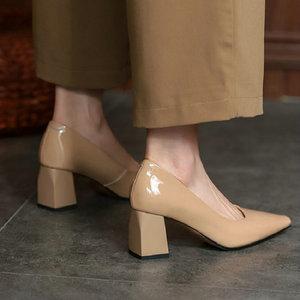 Sianie Tianie женские туфли из натуральной лакированной из натуральной овечьей кожи на высоком каблуке с острым носком; Классические женские туф...
