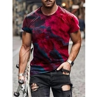 new super size clothing round neck short sleeve casual o neck 3d printing t shirt mens abstract printing t shirt