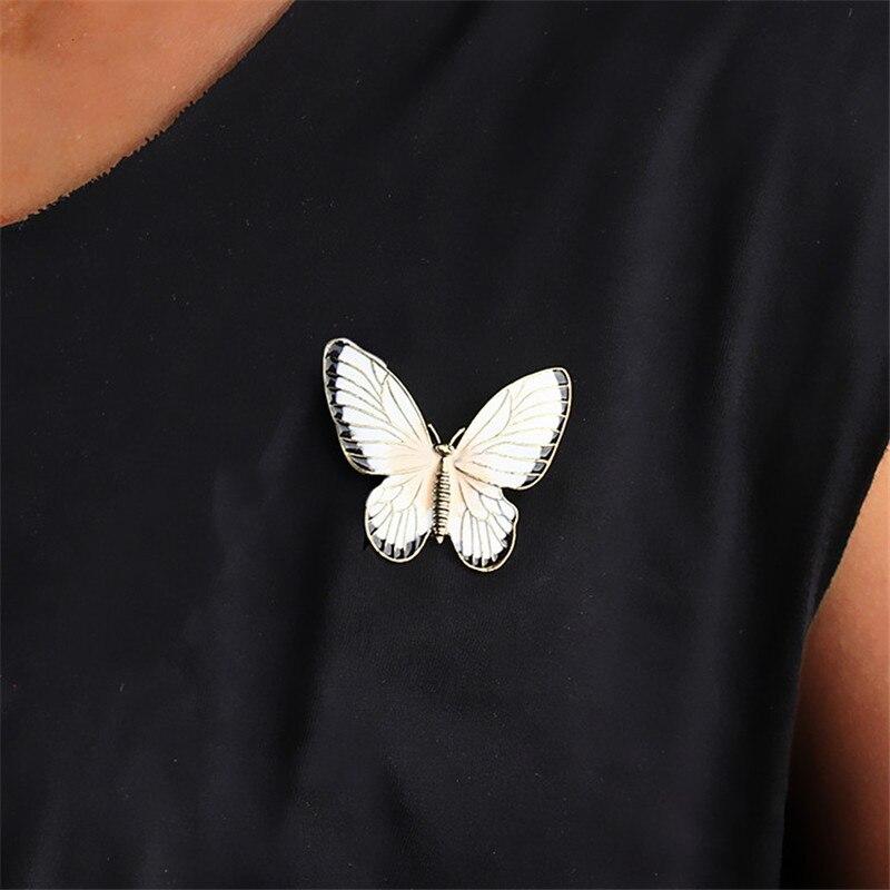 Broche de mariposa con broche esmaltado de joyería de insectos para mujeres, Pines metálicos, regalo de graduación para chico