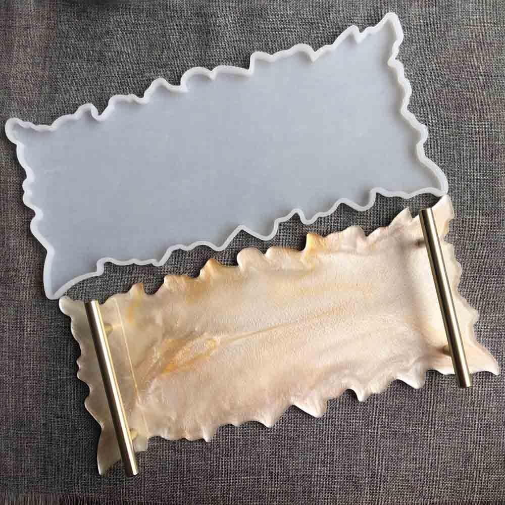Bandeja de frutas silicone molde cola bandeja de molde resina cola conjunto bandeja coaster diy patote material