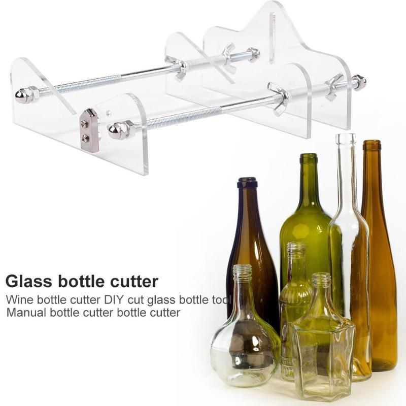 Máquina profesional Manual para cortar botellas de vidrio, rueda de corte, mango de Metal, bellamente diseñada, segura y duradera