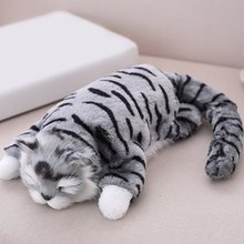 Electric Simulation Cats Plush Toy Kittens Roll Cats 3 Colors Stuffed Doll Room Decoration Birthday