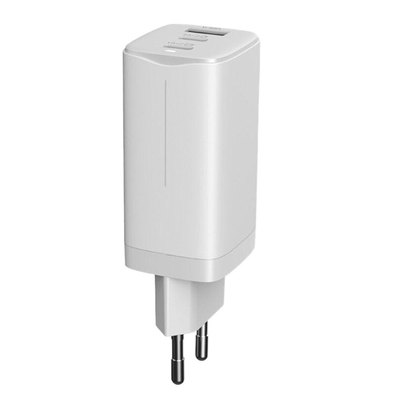 65 واط غان الغاليوم نتريد محول الشحن متعددة الوظائف شاحن سريع 2XType C 1 USB واجهة محول الطاقة (الاتحاد الأوروبي التوصيل)