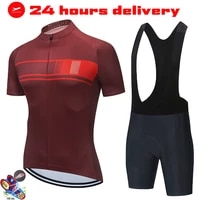 strava 2021 pro team jersey set cycling clothing men short sleeve kit race riding uniform summer road bike ropa ciclismo hombre