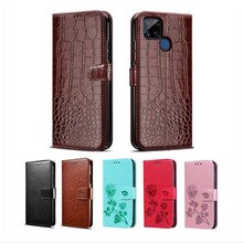 Cover For OPPO Realme C21 Case Leather Flip Capa Luxury PU Back Bag For Realme C21 GT чехол Wal