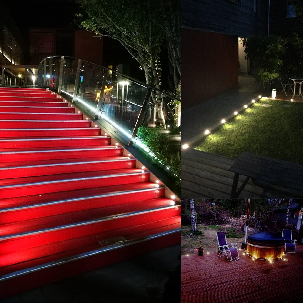 10 Uds IP67 impermeable LED lampara subterranea terreno de exterior Luz de jardin terraza camino piso enterrado de la enlarge