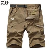 outdoor waterproof fishing shorts daiwa mens thin breathable quick dry casul fishing clothing solid multi pocket anti sweat