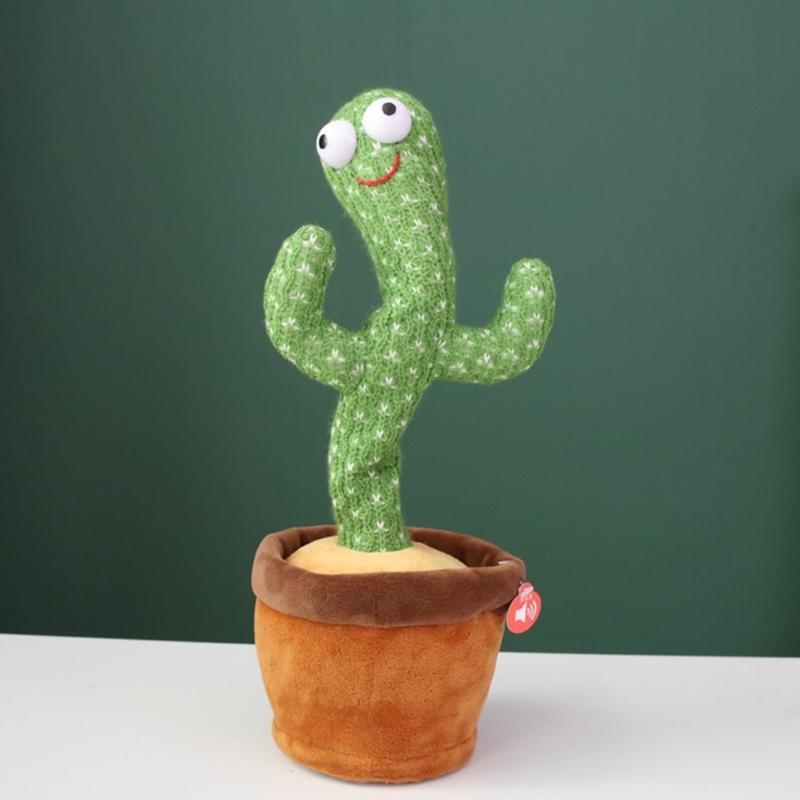 New Interesting 32 cm electric dancing plant cactus plush plush toy with music children will twist the home office decoration